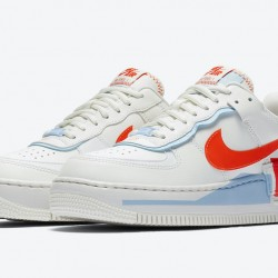 Nike Air Force 1 Shadow Red White Running Shoes CQ9503-100 Womens AF1 Sneakers