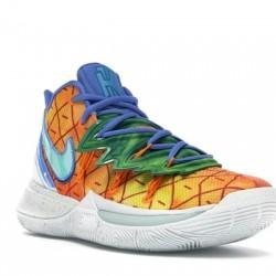 Nike Kyrie 5 SpongeBob Basketball Shoes CJ6950-800 Mens Blue Sneakers