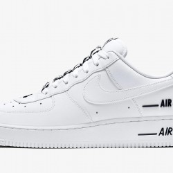 """Nike Air Force 1 """"Added Air"""" White/White/Black Running Shoes Unisex AF1 Sneakers CJ1379-100"""