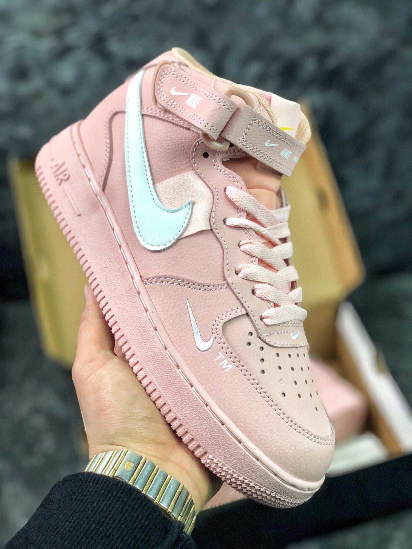 Nike Air Force 1 AF1 Pink White Running