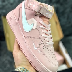 Nike Air Force 1 AF1 Pink White Running Shoes Womens Sneakers