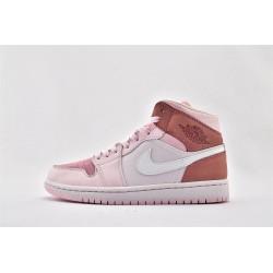 Nike Air Jordan 1 Mid Digital Pink Womens Basketball Shoes CW5379-600 AJ1 Sneakers